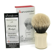 Shavemac 2 Band Silvertip Badger Shaving Brush CI3