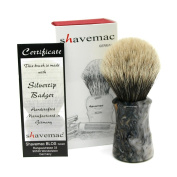 Shavemac 2 Band Silvertip Badger Shaving Brush TR2