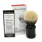 Shavemac 2 Band Silvertip Badger Shaving Brush CB3