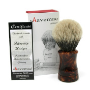 Shavemac 2 Band Silvertip Badger Shaving Brush RW3