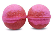 Bath Bomb Fizzle Lover's Spell Bath Bomb, Smells . Love Spell Red and Pink Swirl Perfect for Valentine'S Day/Anniversary/Wedding/Birthday, 180ml