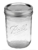 Ball Pint Jar, Wide Mouth, 1 Jar