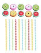 20pcs Regular Mouth Mason Jar Straw Lids with Straws,6.9cm -Many Colours