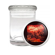 Medical Glass Stash Jar Vintage Bar Signs Cocktails S5 Air Tight Lid 7.6cm x 5.1cm Small Storage Herbs & Spices