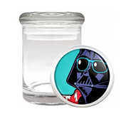 Medical Glass Stash Jar Pop Art Pop Icon S2 Air Tight Lid 7.6cm x 5.1cm Small Storage Herbs & Spices