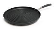 Kitchen 30cm Heavy Gauge Round Non Stick Grill Pan with Meat Shredder Combo