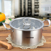 . -Topoko Stainless Steel 3.8l Saucepot - Perfect Family Soup Pot with Tempered Glass Lid Cooking Pot Cookware