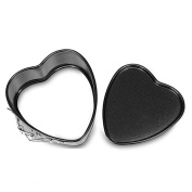 Kitchen Tool, ZTY66 Heart Shaped Removable Bottom Pan With Spring Latch Mould Steel Cake Baking Mould, 11 x 10.5 x 5CM