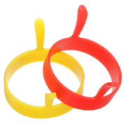 Kitchen Tool, ZTY66 1PC Silicone Round Egg Rings Pancake Mould Ring W Handles Nonstick Fried Frying