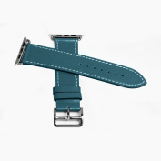 Leather Strap for Apple Watch 42MM - Turquoise