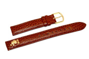 14mm Brown Disney Gold Metal Mickey Mouse Stitched Watch Band Strap