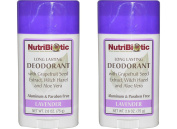 NutriBiotic Lavender Deodorant (Pack of 2) with Witch Hazel Extract, Grapefruit Seed Extract and Aloe Vera Gel, Vegan, Aluminium and Paraben free, 80ml