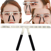 HuangHM Permanent Tattoo Eyebrow Ruler Metal Bendable Reusuable 3 Point Positioning Symmetrical tool Grooming Stencil Shaper Balance Measuring Ruler Microblading Makeup Cosmetic accessory