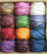 Valdani Luxury Silk Floss Jewels 6 Strand Thread Hand-dyed 12 Spool VAK1000