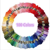 LZMU Multi-colour Embroidery Floss- Cross Stitch Threads- Crafts Floss -Polyester Sewing Threads Art Craft Supplies