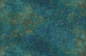 Teal Marbled Stone Marble, Stonehenge Oxydized Copper, 39300 69, Linda Ludovico, Northcott, By the Yard