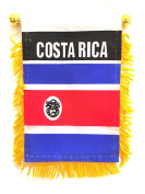 Costa Rican mini flag for rearview mirror & window automobile or Home design