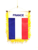 Automobile design Small FRENCH / FRANCE mini car flag rearview mirror window flag