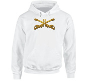 SMALL - Army - 15th Cavalry Branch wo Txt Hoodie - White