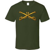 LARGE - Army - 13th Cavalry Branch wo Txt - Military Green