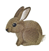 "Nature weaved in threads, Amazing Baby Animal Kingdom [Baby Bunny] [Custom and Unique] Embroidered Iron on/Sew patch [4.""4""] [Made in USA]"