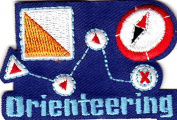 """ORIENTEERING"" IRON ON EMBROIDERED PATCH-HOBBY-COMPASS-CAMPING-HIKE,OUTDOORS"