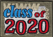 """CLASS OF 5130cm - Iron On Embroidered Patch/School, Words, Graduation, College"