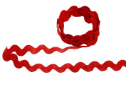 Beautiful Zigzag Shaped Ribbons Tape Lace Trim Scalloped Edge 10mm Wide M1818217 (Red