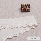14Yds Broderie Anglaise cotton eyelet lace trim 2.3cm white YH1185