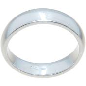 Sterling Silver High-Polish 4.5mm Plain Thin Wedding Band