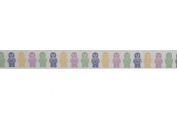 15mm Bowtique Jelly Sweets Print Grosgrain Ribbon 5m Pastel - per 5 metre roll