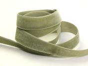 9mm Berisford Velvet Ribbon Mini Roll 5m 9687 Khaki - per 5 metre roll