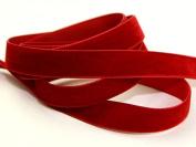 9mm Berisford Velvet Ribbon Mini Roll 5m 9644 Scarlet - per 5 metre roll