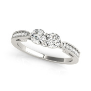 Vintage Style Duo Filigree Promise Ring with a Surprise Diamond 0.69 tcw.