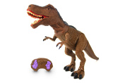 Dinosaur Planet Remote Controlled RC Battery Operated Toy T-Rex Figure w/Shaking Head, Walking Movement, Light Up Eyes & Sounds