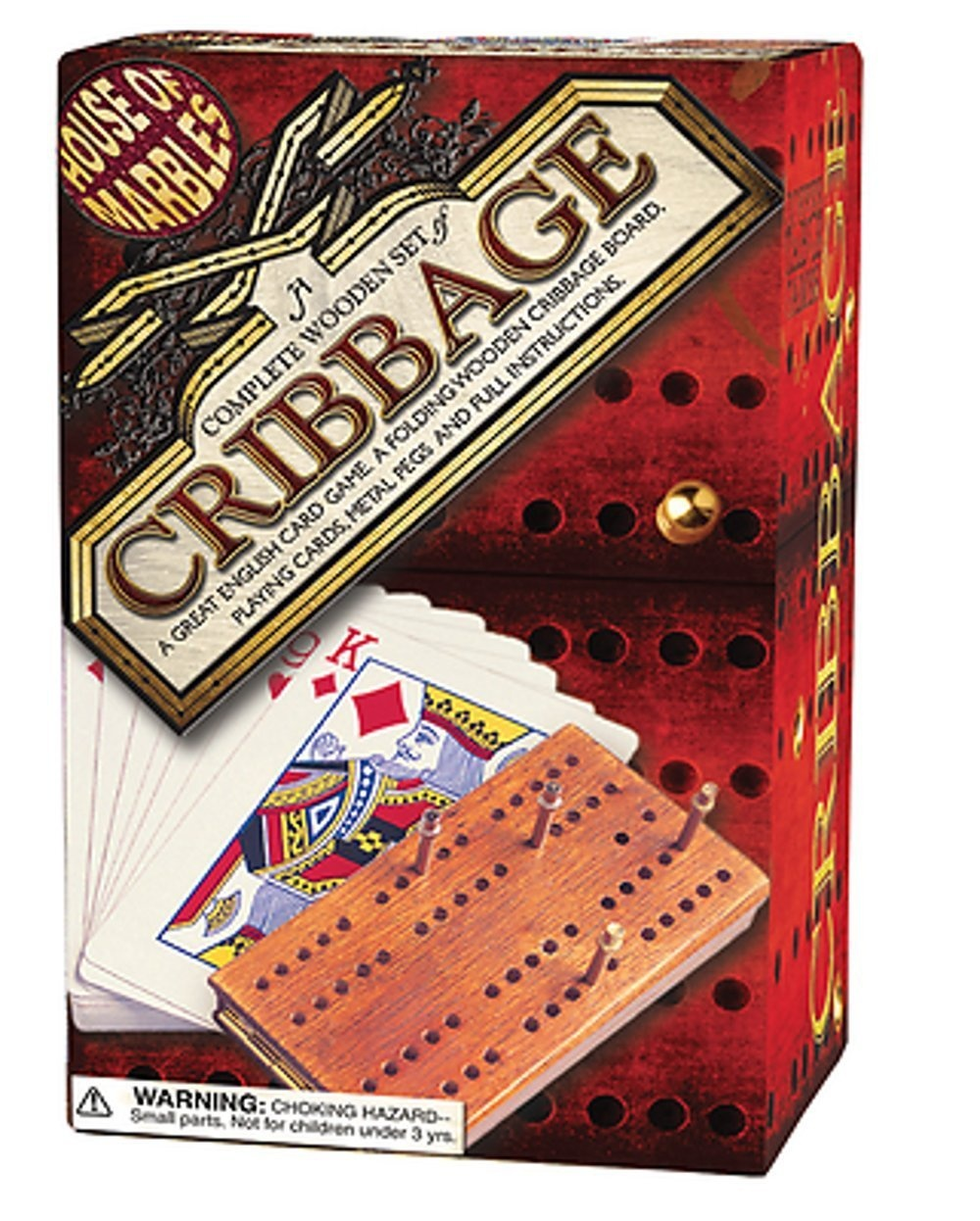 House of Marbles Wooden Cribbage Set Game