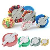 PomPom Maker - Clover Pom Pom Maker - Pompom Makers - New 4 Sizes Pompom Maker Ball Weaver Needle Craft Knitting Wool Tool