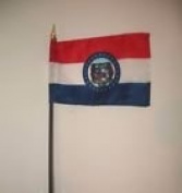 Missouri State Flag 10cm x 15cm Desk Table Stick