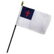 Wholesale Lot of 12 Christian 10cm x 15cm Desk Table Stick Flag
