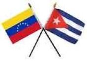 Cuba and Venezuela 7 Star Flag 10cm x 15cm Desk Set Table Stick Gold Base