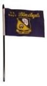U.S. Navy Blue Angels 10cm x 15cm Flag Desk Set Table Stick Black Staff Black Base
