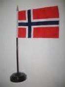 Norway Norwegian Flag 10cm x 15cm Desk Set Table Stick Black Base