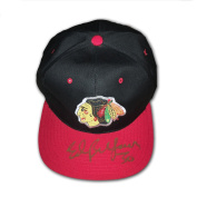 Autographed Ed Belfour Black and Red Hat - Chicago Blackhawks - Autographed NHL Hats