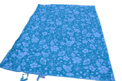 Multi-purpose Foldable Mat, Beach Mat, Crawl Mat, Picnic Mat, Yoga Mat (Blue, 5FTX2m) with Easy Carry and Machine Washable