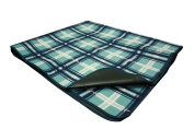 Deluxe Foldable Picnic and Outdoor Blanket with Waterproof Sandproof Backing and Easy Carry on Handle and Shoulder Strap
