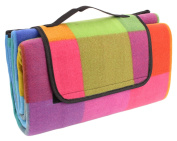 Portable Fold-Up Outdoor Picnic Camping Blanket 130cm x 150cm with Handle by bogo Brands