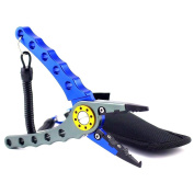 Fishing Pliers Aluminium Saltwater Sheath Braid Cutter FP-20 Fish Tool Holder with Lanyard from Zitrades
