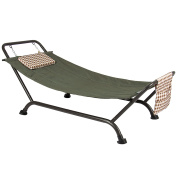 Best Choice Products Deluxe Pillow Hammock With Stand Supports 230kg Outdoor Yard Garden Patio Furniture