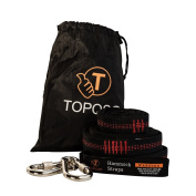 TOPQSC Hammock Straps For Tree For Camping Hammocks Heavy Duty/Extra Long/Lightweight Best Suspension System For Quick & Easy Setup