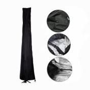 Fellie Cover 230cm Patio Umbrella Cover, Durable Outdoor UV Protection Umbrella Cover Waterproof, Black